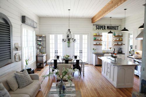 白色个性自然时尚混搭风格客厅美图赏析