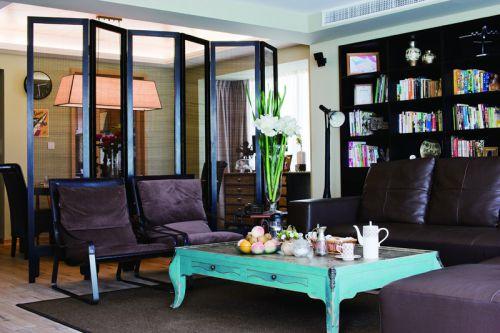 个性摩登混搭风格黑色客厅装饰案例