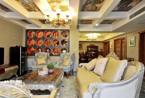 个性时尚混搭风格客厅效果图设计