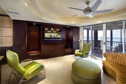 大胆撞色美式创意客厅设计