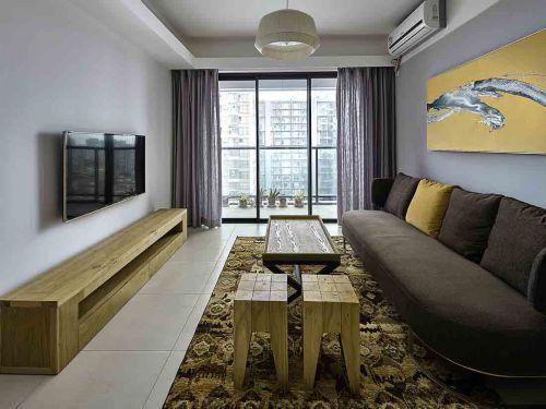 现代简约混搭客厅装修效果图片