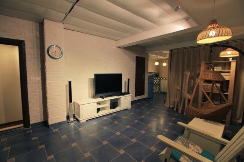 混搭风格白色清新客厅效果图设计