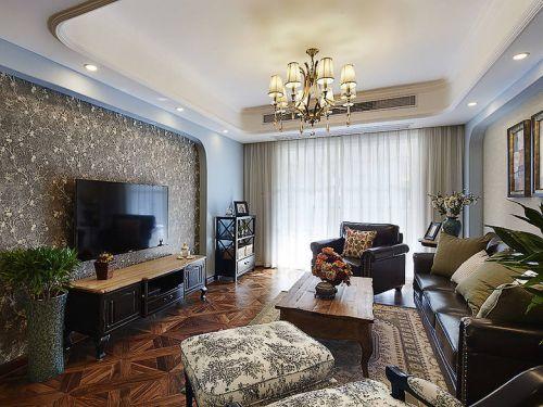 灰色浪漫混搭风格客厅装修案例