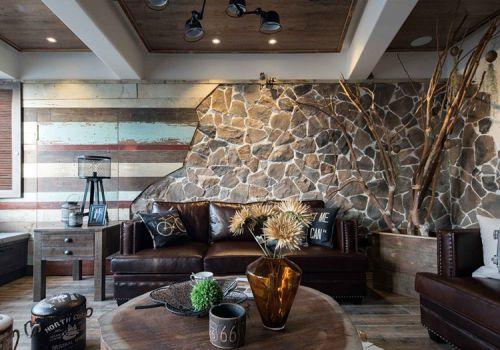 创意混搭客厅背景墙设计