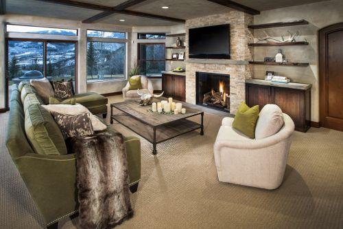 时尚混搭风格客厅装修设计图