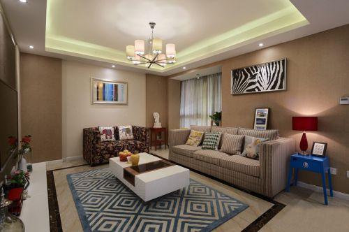 现代摩登时尚混搭客厅装修