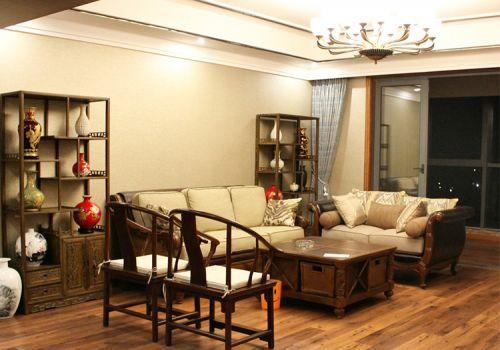 古朴混搭客厅装修设计