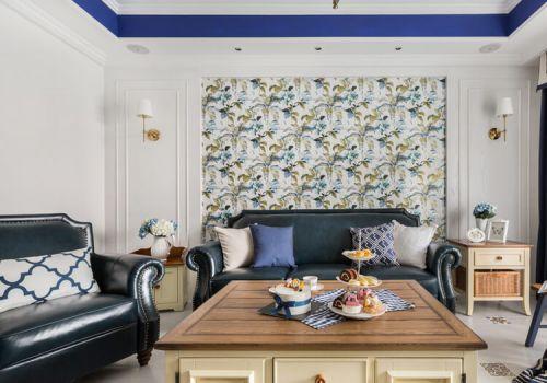 清新混搭沙发背景墙设计