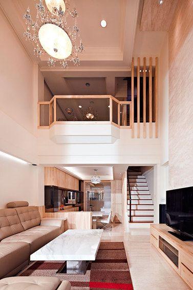 现代混搭风格挑高客厅装修设计欣赏