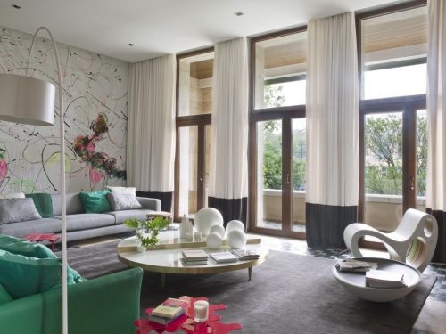 2016混搭创意灰色客厅装潢装修案例