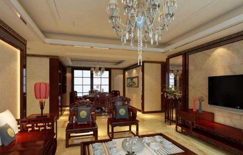 欧式与中式创意混搭风格客厅欣赏