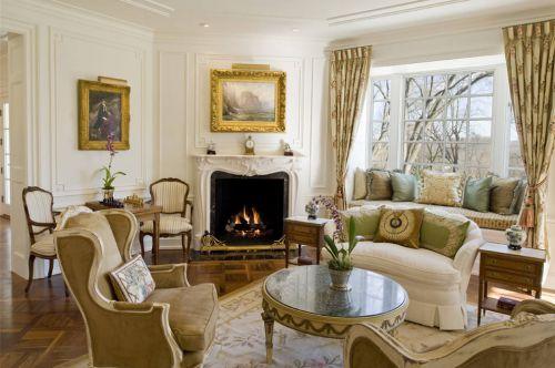 休闲混搭风格客厅窗帘设计欣赏