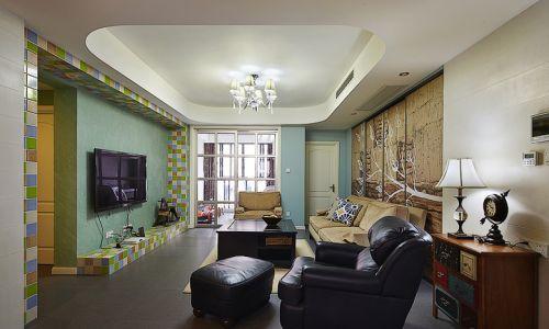 混搭风格米色清新客厅设计案例