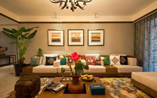 多彩混搭客厅装潢案例