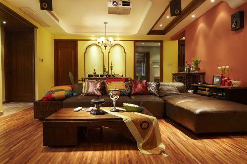 黄色温馨混搭风格客厅图片赏析