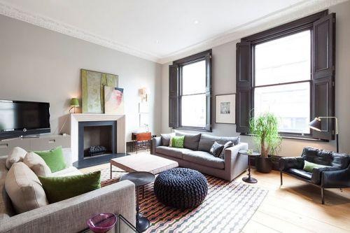 创意混搭灰色客厅装修效果图片