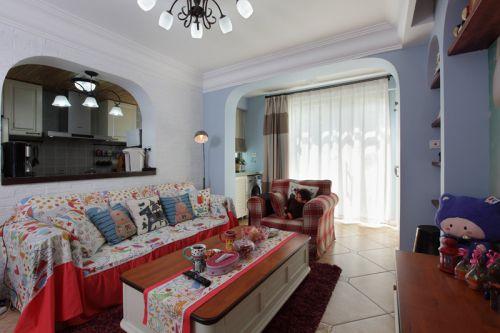 混搭多彩客厅沙发装潢设计
