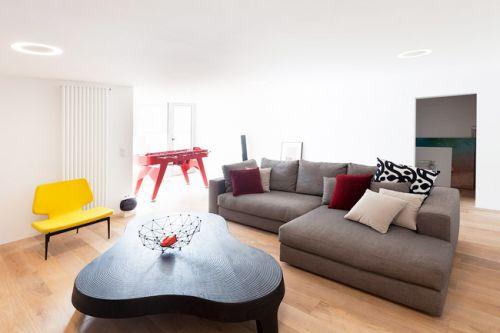 文艺美式混搭客厅设计