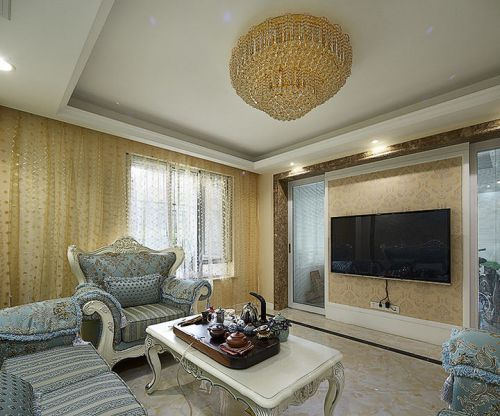 2016混搭风格客厅窗帘装饰案例