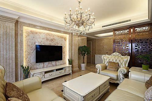 精致典雅新古典风格客厅设计装修效果图片