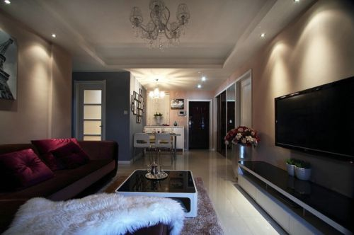 黑色混搭风格客厅设计欣赏