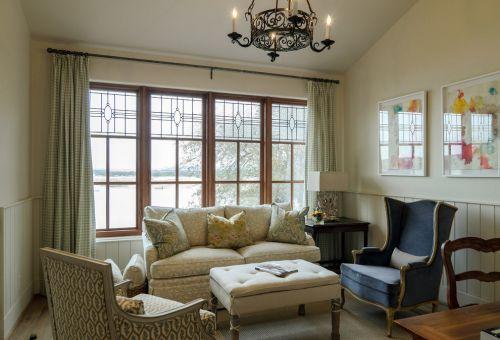 绿色混搭风格客厅沙发效果图赏析