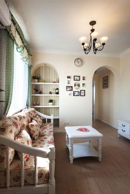 米色雅致混搭风格客厅设计图片