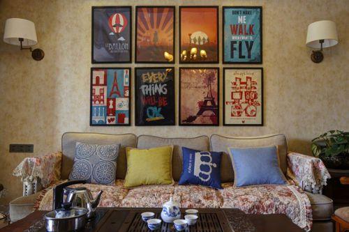 摩登个性创意混搭风格客厅装修图片