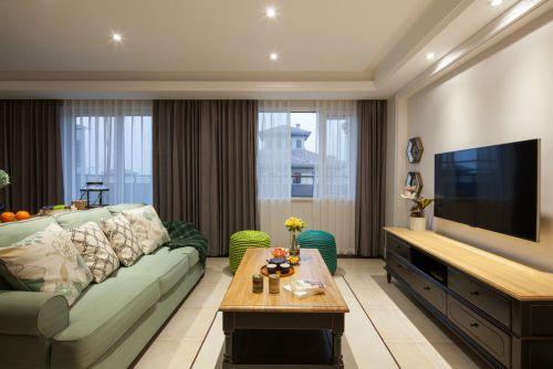 摩登雅致混搭风格米色客厅效果图设计