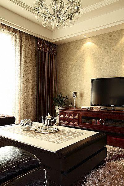 精致简欧混搭风格客厅设计图片