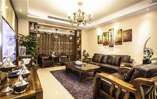 华丽古典混搭风格客厅效果图设计
