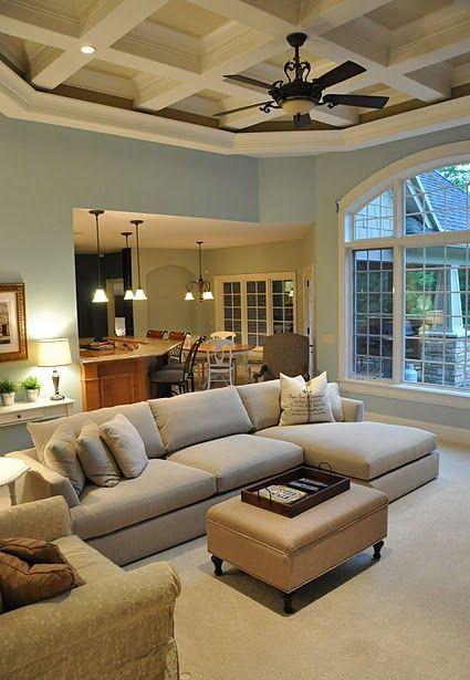 混搭风格清新蓝色客厅设计装潢