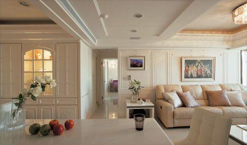 简复古优雅欧白色客厅装潢装修图片