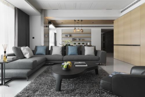 灰色休闲宜家风格客厅装潢