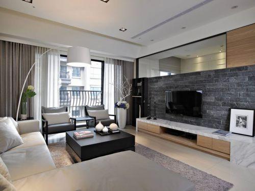 灰色宜家风格电视背景墙效果图欣赏