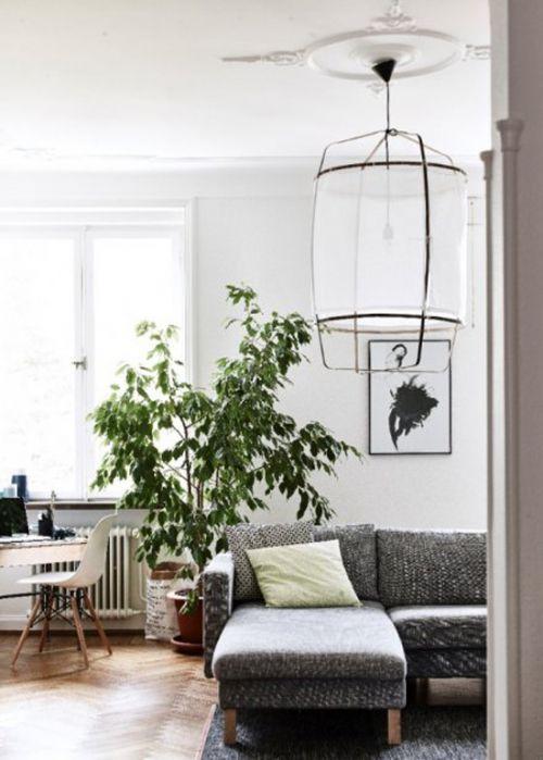 白色宜家风格客厅吊顶美图赏析