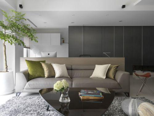 舒适温馨宜家风格灰色客厅装修