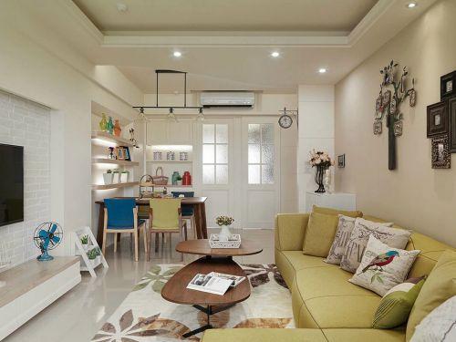 简欧风格三居室内客厅设计效果图