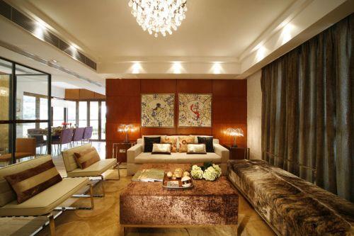质朴原木雅致简欧风格客厅装潢案例