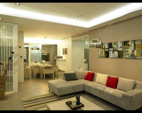 宜家风格米色客厅装修布置图