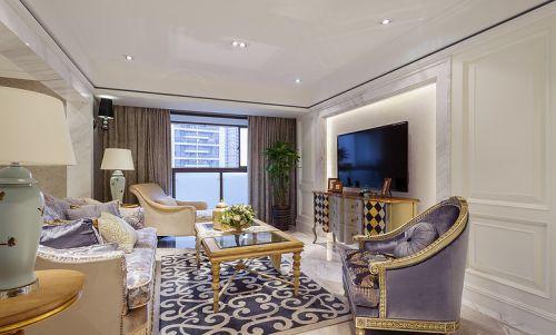 浪漫温馨简欧风格客厅装潢设计