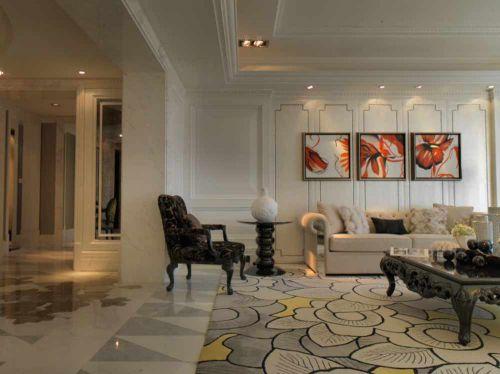 唯美精致简欧风格客厅装潢