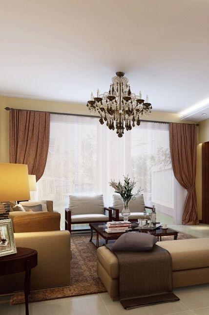 宜家装修客厅窗帘欣赏