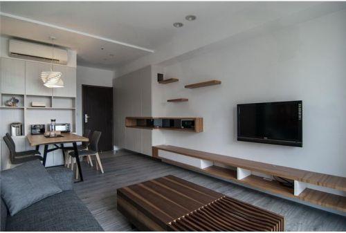 宜家风格客厅背景墙设计案例