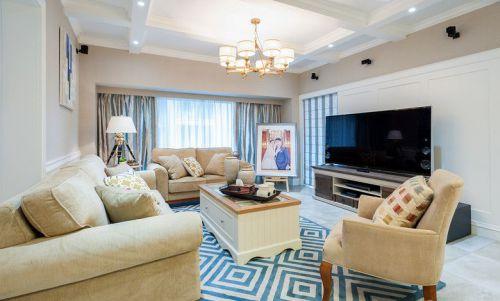 米色简欧风格客厅设计图