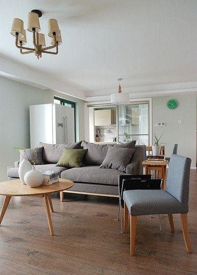 宜家风清新白色客厅装修设计