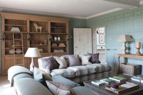 宜家风格清新绿色客厅装修图片