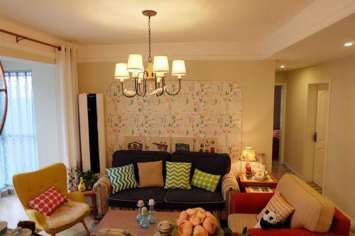 米色温馨宜家风格客厅装修效果图