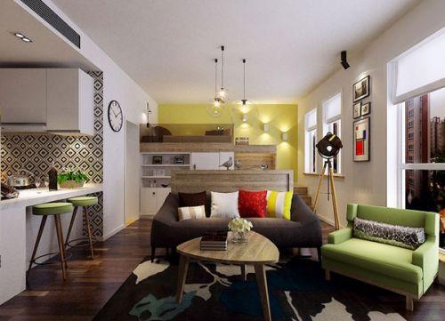宜家风格清新白色客厅装修欣赏