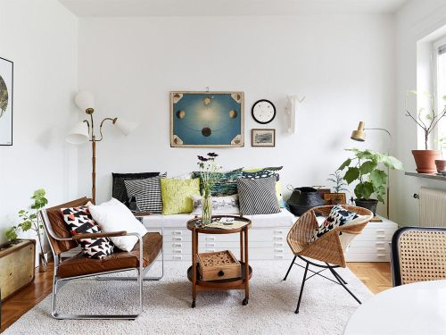 2016白色清新宜家风格客厅装修效果图